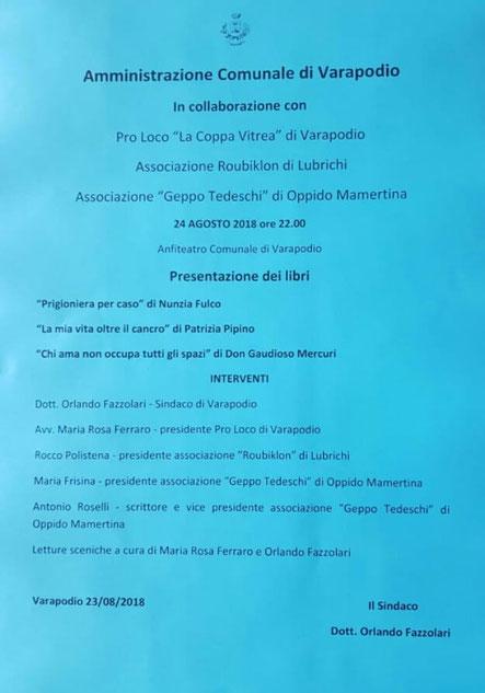 Varapodio - Presentazione di libri.