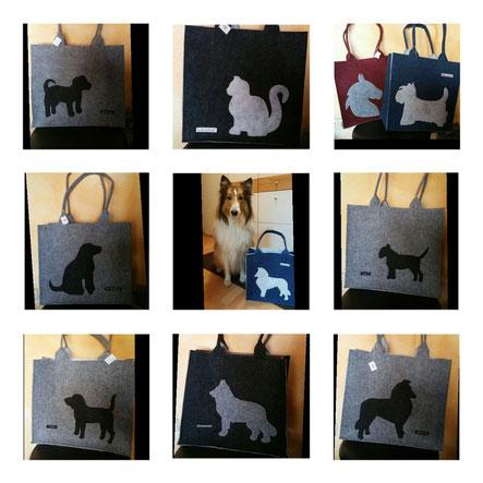 Taschen mit Hundemotiv