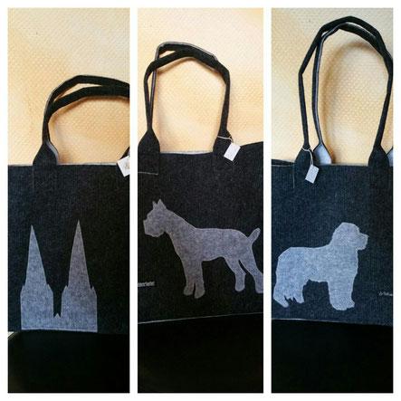 Taschen mit Hundemotiv oder Kölner Dom