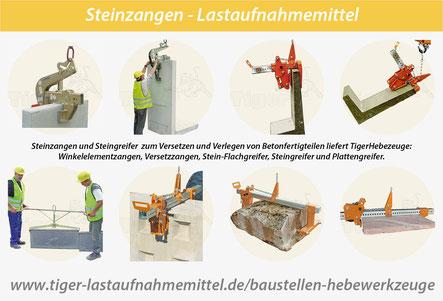 Steinzangen - Steingreifer für Kran und Bagger