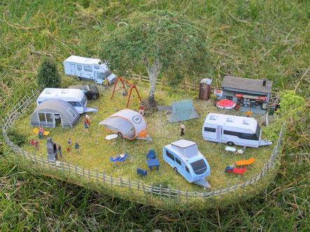 Diorama Campingplatz Spur N (1:160) - bei Interesse auf Bild klicken