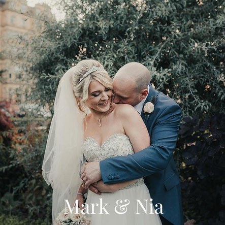 natural bride and groom portrait in York