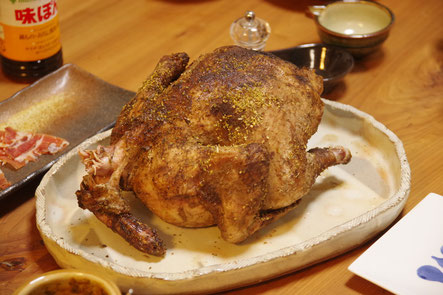 隠岐の島 京見屋分店 丸鶏 パリパリ焼