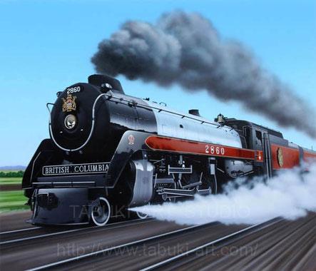 蒸気機関車 ブリティッシュ・コロンビア イラスト