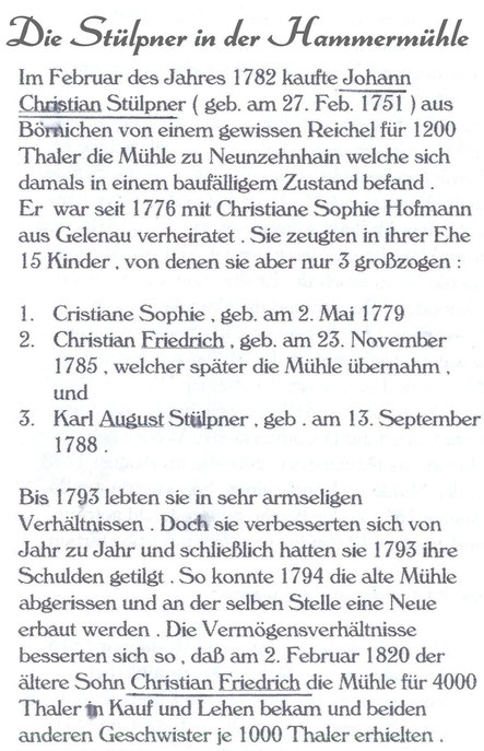 Bild: Teichler Wünschendorf Erzgebirge Neunzehnhain Stülpner