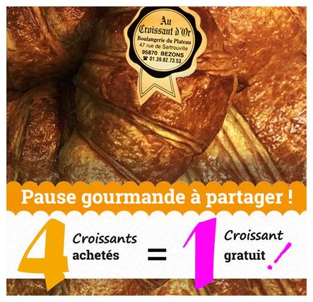 Promos Croissants Au Croissant d'Or Bezons