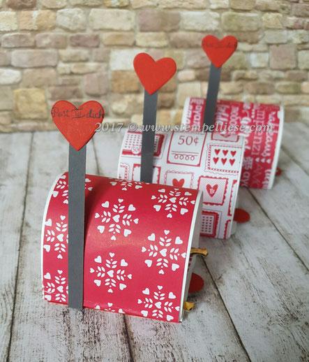 stempelliese.com # stampin`Up! # Mailbox # Ziehverpackung # Rocher # Tischdeko # Hochzeit