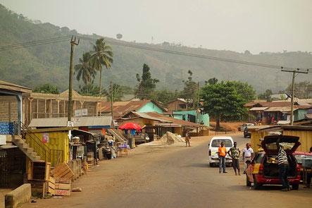 Typical landscape in Volta Region
