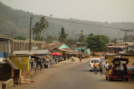Typical landscape in Volta Region