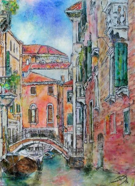 「小運河 -calle-」 油彩 333×242mm