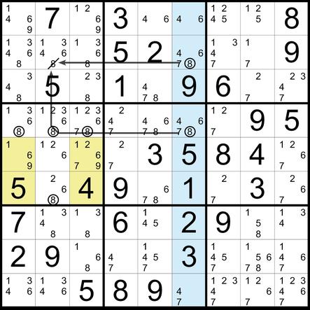 Sudoku Lösungsstrategie Leeres Rechteck© Martin Simon