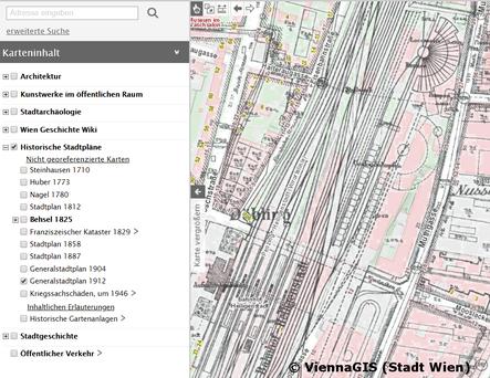 Bahnhof HeiligenstadtGeneralstadtplan 1912