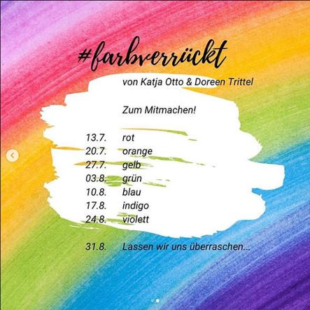 Regenbogenfarben, Wochenübersicht #farbverrückt