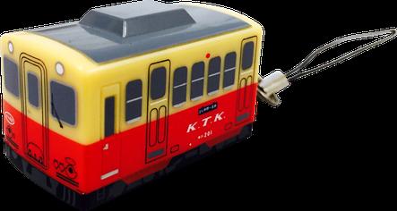 プルバックカー ストラップ/キーホルダー 電車型