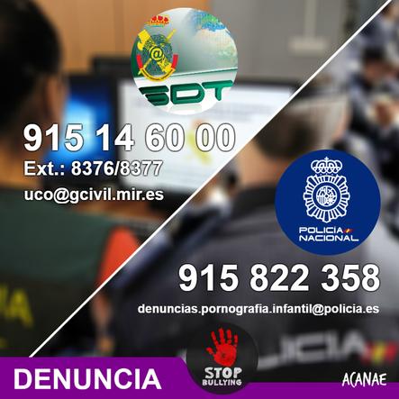 Denunciar casos de ciberacoso ante la Policía y la Guardia Civil - ACANAE