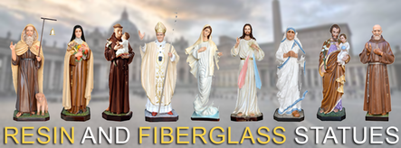 Resin and fiberglass religious statues