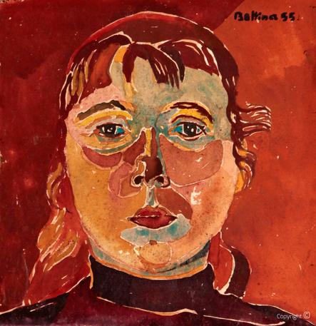 Bettina Heinen-Ayech (1937-2020): Autoportrait, 1955