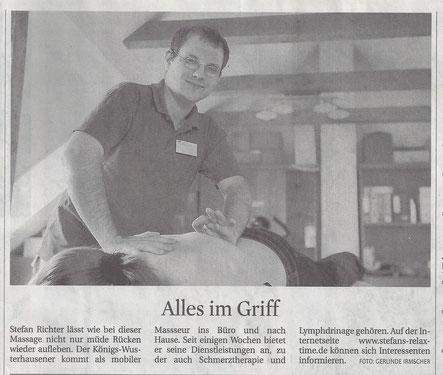 Ablauf einer Arbeitsplatzmassage und Büromassage aus Königs Wusterhausen für Berlin & Bradenburg