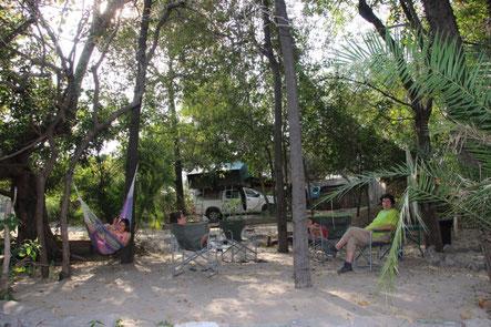 Notre campement dans le delta de l'Okavango