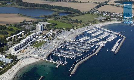 Luftaufnahme Olympiahafen Schilksee © Sporthafen Kiel GmbH