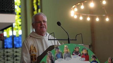 Auch im Ruhestand will Pater Hermann der Karmel-Gemeinde erhalten bleiben und weiterhin in der Gemeinschaft leben, die nach dem Wegzug der Ordensschwestern im Jahr 2002 gegründet wurde. (RP-Foto: Andreas Probst)