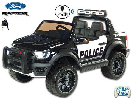 Polizei/Geländewagen/Kinderauto/Kinder Elektroauto/KidCars/Fernbedienung/schwarz-weiß/