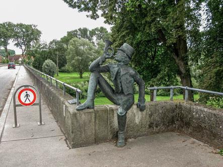 © Traudi - Postillion auf der Neckarbrücke