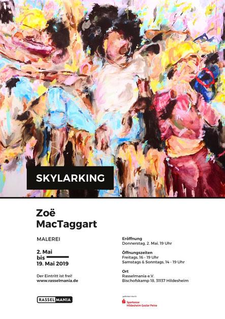 Plakat zur Ausstellung Zoë MacTaggart: Skylarking