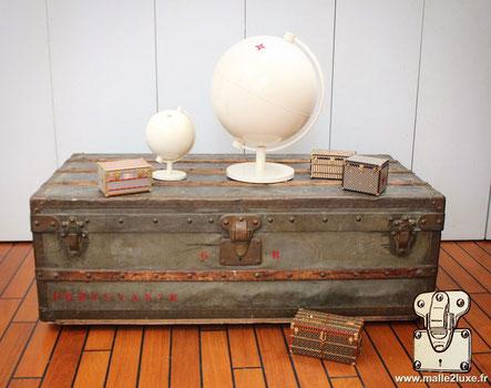 Louis Vuitton 1885 zinc explorer cabin trunk