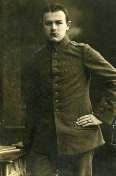 Als junger Soldat im 1. Weltkrieg