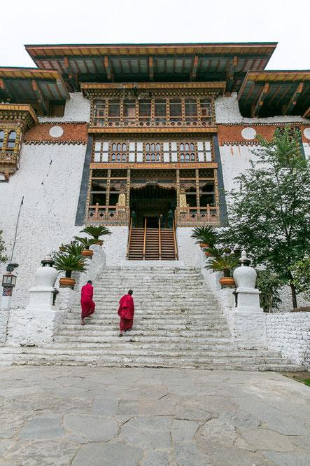 Haupteingang des Punakha Dzong.