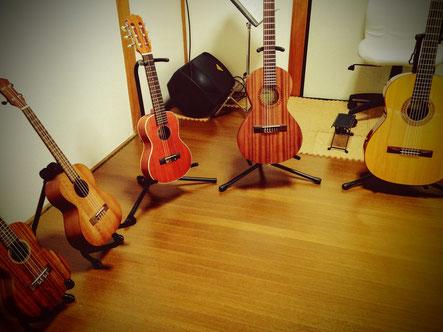 ギターとウクレレ、サイズあれこれ