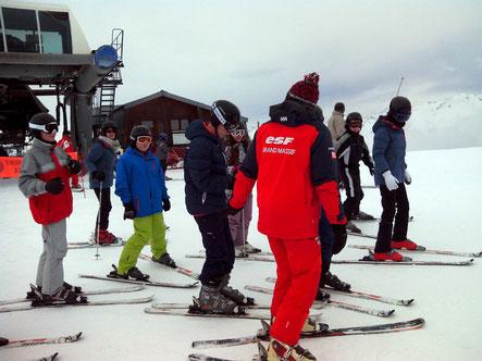 Pour de nombreux élèves se fut une première sur des skis.