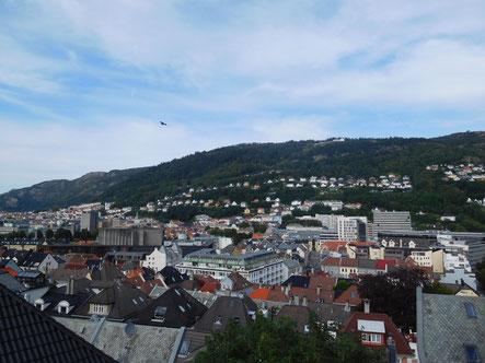 Aussicht aus meinem Zimmer in Bergen (Foto: TB)