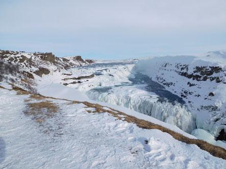 Der Wasserfall Gulfoss