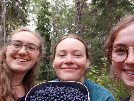 Uppsala-Gang: Sonja, Klara und Clara