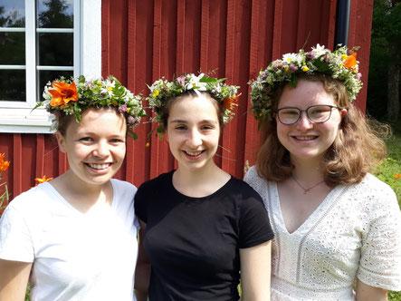 Pauline, Madeleine und Friederike