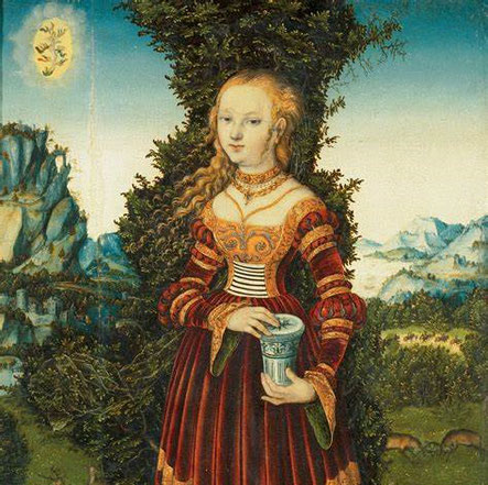 Lucas Cranach d. Ä. : MM mit Salbengefäß (Ausschnitt)