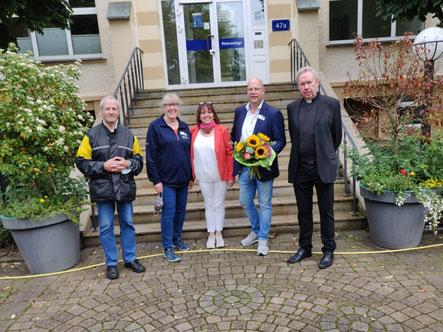 Pastor Ludwig Opahle, Andrea Steinforth, Projektmanagerin Annegret Wegmann, Michael Maßmann, Pfarrer Dr. Andreas Geßmann