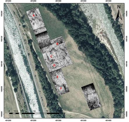 Abb. 2: Radarmessungen auf der Flur Haselangerwiese.