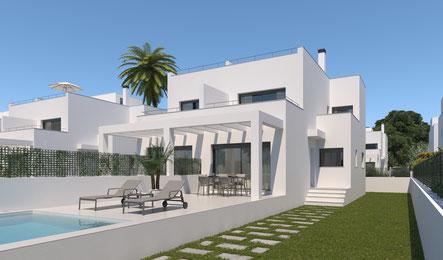 Doppelhäuser als Ferienhaus auf Mallorca in Cala Pi