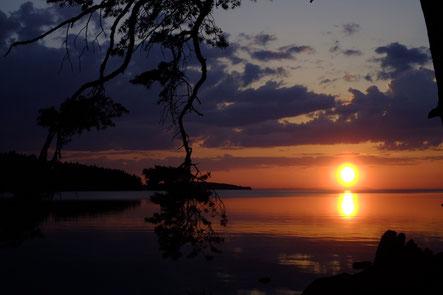 Sonnenuntergang am Störsjon