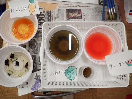 完成した色水