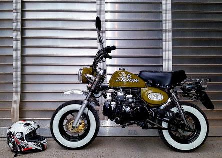 Minibike Skyteam Skymini 125 Army green  Honda Gorilla Honda Monkey Honda Dax