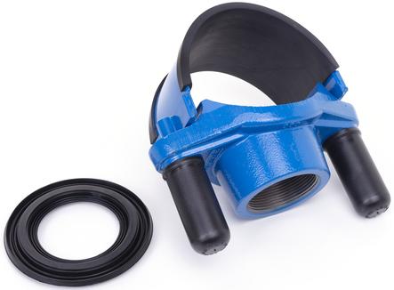 Anbohrschelle mit Innengewinde und Nirobandbügel für diverse Medien und unterschiedliche Rohrleitungsmaterialien