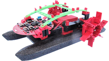 autonomes Boot aus Fischertechnik mit analoger Helligkeitssteuerung