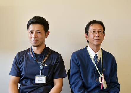 安形司氏(向かって右)と半田裕氏