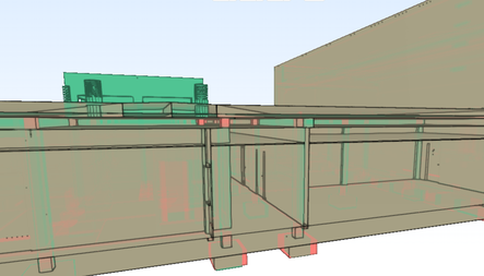 """As-Built """"Vivo"""" en el proceso. Elementos añadidos en verde, eliminados en rojo."""