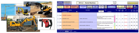 Keep overview over rental equipment. And collect notes for each machine into a LogBook.