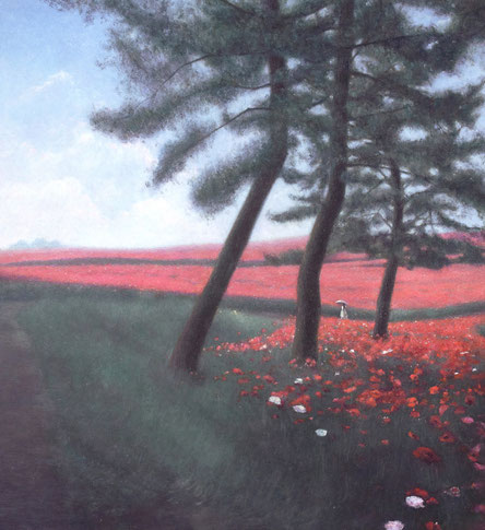 「春を紡ぐ」 油彩 950×905mm